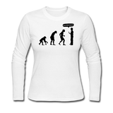 """Stop Following Me"" - Women's Long Sleeve T-Shirt white / S - LabRatGifts - 3"
