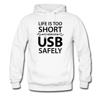 """Life is too Short"" (black) - Men's Sweatshirt white / S - LabRatGifts - 1"