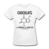 """Chocolate"" - Women's T-Shirt white / S - LabRatGifts - 12"