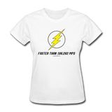 """Faster than 186,282 MPS"" - Women's T-Shirt white / S - LabRatGifts - 8"