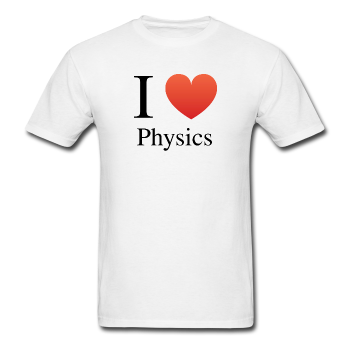 """I ♥ Physics"" (black) - Men's T-Shirt white / S - LabRatGifts - 1"