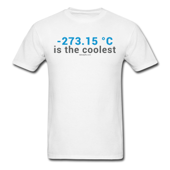 """-273.15 ºC is the Coolest"" (gray) - Men's T-Shirt white / S - LabRatGifts - 1"