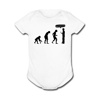 """Stop Following Me"" - Baby Short Sleeve One Piece white / Newborn - LabRatGifts - 4"