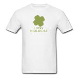 """Lucky Biologist"" - Men's T-Shirt white / S - LabRatGifts - 1"