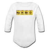 """NaH BrO"" - Baby Long Sleeve One Piece white / 6 months - LabRatGifts - 2"