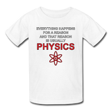 """Everything Happens for a Reason"" - Kids' T-Shirt white / XS - LabRatGifts - 5"