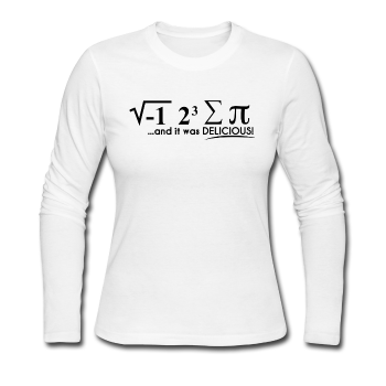 """I Ate Some Pie"" (black) - Women's Long Sleeve T-Shirt white / S - LabRatGifts - 1"
