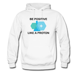 """Be Positive"" (black) - Men's Sweatshirt white / S - LabRatGifts - 1"