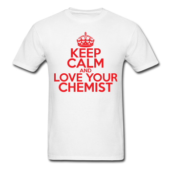 """Keep Calm and Love Your Chemist"" (red) - Men's T-Shirt white / S - LabRatGifts - 1"