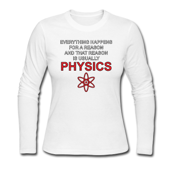 """Everything Happens for a Reason"" - Women's Long Sleeve T-Shirt white / S - LabRatGifts - 1"