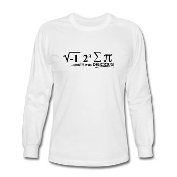 """I Ate Some Pie"" (black) - Men's Long Sleeve T-Shirt white / S - LabRatGifts - 1"