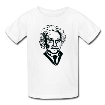 """Albert Einstein"" - Kids' T-Shirt white / XS - LabRatGifts - 1"