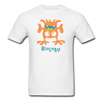 """Biology Monster"" - Men's T-Shirt white / S - LabRatGifts - 1"