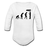 """Stop Following Me"" - Baby Long Sleeve One Piece white / 6 months - LabRatGifts - 2"