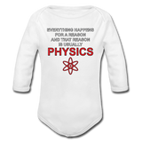 """Everything Happens for a Reason"" - Baby Long Sleeve One Piece white / 6 months - LabRatGifts - 2"