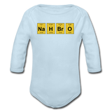 """NaH BrO"" - Baby Long Sleeve One Piece powder blue / 6 months - LabRatGifts - 4"
