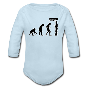 """Stop Following Me"" - Baby Long Sleeve One Piece powder blue / 6 months - LabRatGifts - 1"