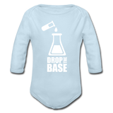 """Drop the Base"" - Baby Long Sleeve One Piece powder blue / 6 months - LabRatGifts - 3"