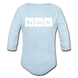 """BaCoN"" - Baby Long Sleeve One Piece powder blue / 6 months - LabRatGifts - 3"
