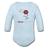 """A-Mean-Oh Acid"" - Baby Long Sleeve One Piece powder blue / 6 months - LabRatGifts - 1"