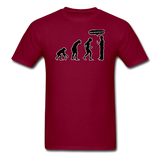 """Stop Following Me"" - Men's T-Shirt burgundy / S - LabRatGifts - 3"
