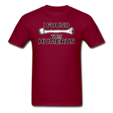 """I Found this Humerus"" - Men's T-Shirt burgundy / S - LabRatGifts - 10"