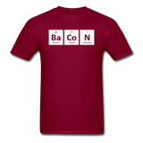 """BaCoN"" - Men's T-Shirt burgundy / S - LabRatGifts - 3"