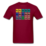 """Lady Gaga Periodic Table"" - Men's T-Shirt burgundy / S - LabRatGifts - 4"