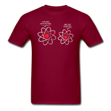 """I've Lost an Electron"" - Men's T-Shirt burgundy / S - LabRatGifts - 3"
