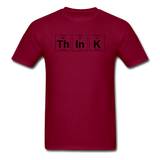 """ThInK"" (black) - Men's T-Shirt burgundy / S - LabRatGifts - 12"