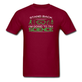 """Stand Back"" - Men's T-Shirt burgundy / S - LabRatGifts - 3"