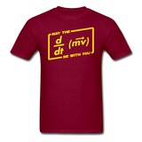 """May the Force Be With You"" - Men's T-Shirt burgundy / S - LabRatGifts - 4"