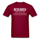 """Research"" (white) - Men's T-Shirt burgundy / S - LabRatGifts - 4"