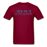"""-273.15 ºC is the Coolest"" (gray) - Men's T-Shirt burgundy / S - LabRatGifts - 12"