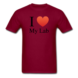 """I ♥ My Lab"" (black) - Men's T-Shirt burgundy / S - LabRatGifts - 9"