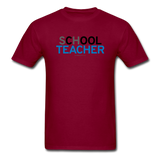 """sChOOL Teacher"" - Men's T-Shirt burgundy / S - LabRatGifts - 11"