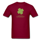 """Lucky Chemist"" - Men's T-Shirt burgundy / S - LabRatGifts - 10"