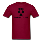 """Toxic Do Not Touch"" - Men's T-Shirt burgundy / S - LabRatGifts - 11"