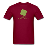 """Lucky Biologist"" - Men's T-Shirt burgundy / S - LabRatGifts - 11"
