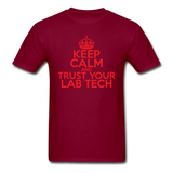 """Keep Calm and Trust Your Lab Tech"" (red) - Men's T-Shirt burgundy / S - LabRatGifts - 10"