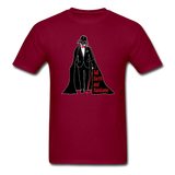 """Tall Darth and Handsome"" - Men's T-Shirt burgundy / S - LabRatGifts - 17"