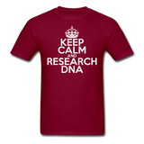 """Keep Calm and Research DNA"" (white) - Men's T-Shirt burgundy / S - LabRatGifts - 6"