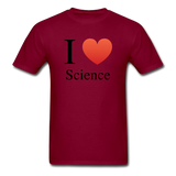 """I ♥ Science"" (black) - Men's T-Shirt burgundy / S - LabRatGifts - 10"