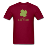 """Lucky Lab Tech"" - Men's T-Shirt burgundy / S - LabRatGifts - 11"