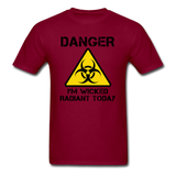 """Danger I'm Wicked Radiant Today"" - Men's T-Shirt burgundy / S - LabRatGifts - 12"