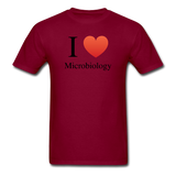 """I ♥ Microbiology"" (black) - Men's T-Shirt burgundy / S - LabRatGifts - 10"