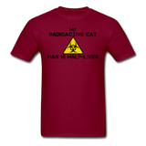 """My Radioactive Cat has 18 Half-Lives"" - Men's T-Shirt burgundy / S - LabRatGifts - 11"