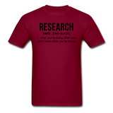 """Research"" (black) - Men's T-Shirt burgundy / S - LabRatGifts - 12"