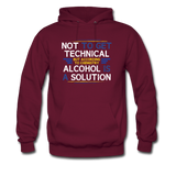 """Technically Alcohol is a Solution"" - Men's Sweatshirt burgundy / S - LabRatGifts - 5"