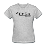 """I Ate Some Pie"" (black) - Women's T-Shirt heather gray / S - LabRatGifts - 12"